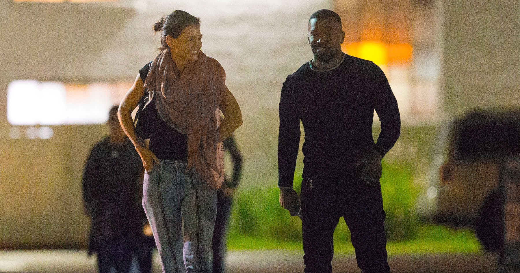 Katie Holmes and Jamie Foxx Giggle Together on Rare Public Outing: Pics