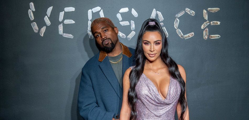 Kim Kardashian Shows Major Cleavage In Plunging Dress At Versace Show In NYC