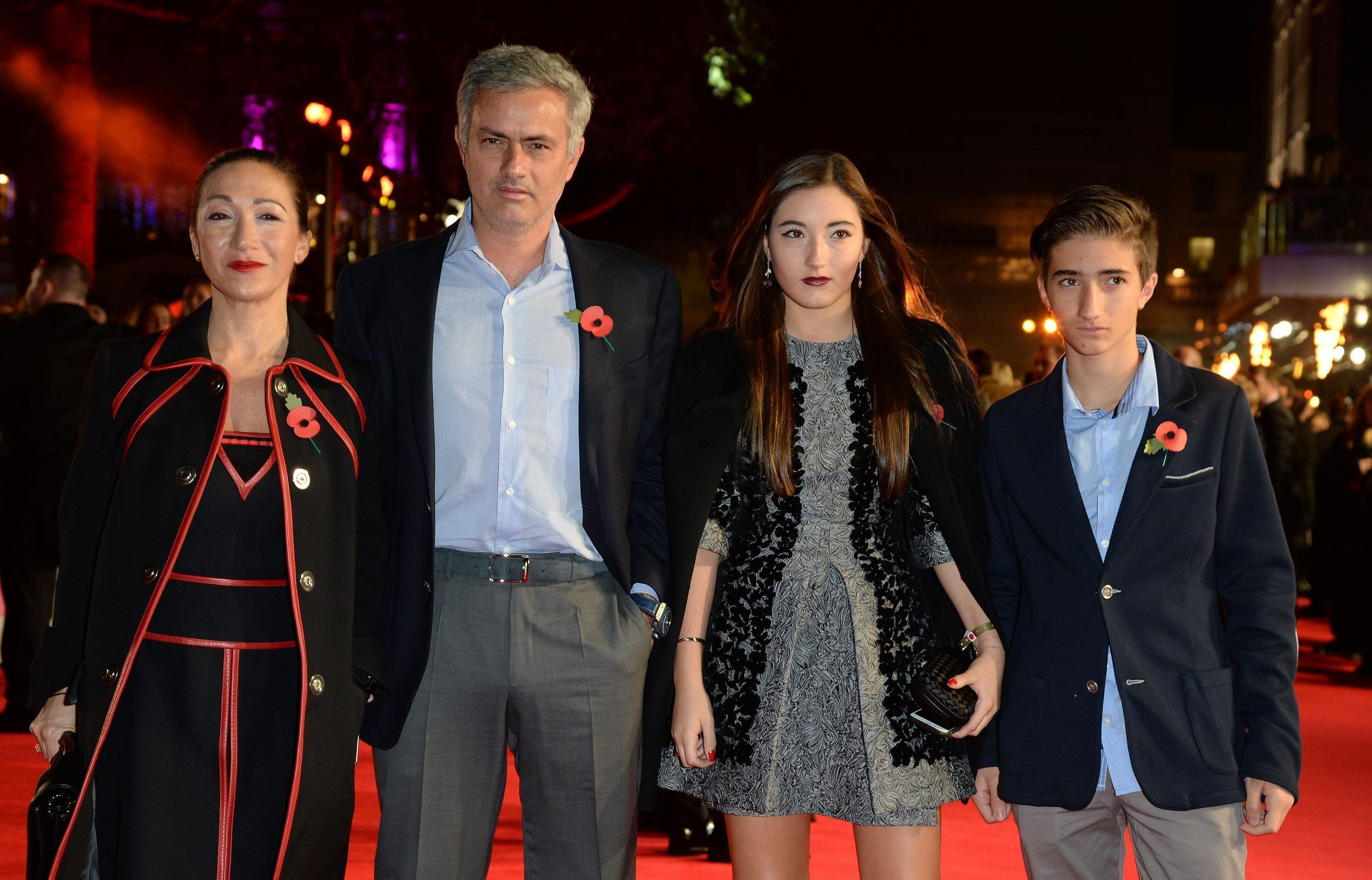 How old is Jose Mourinho, who is his wife Matilde Faria and how many children do they have?