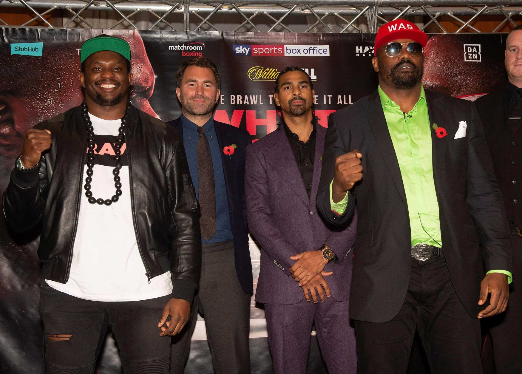 Dereck Chisora is on 'last opportunity' in boxing and set for world title fight with Anthony Joshua if he beats Dillian Whyte, says David Haye