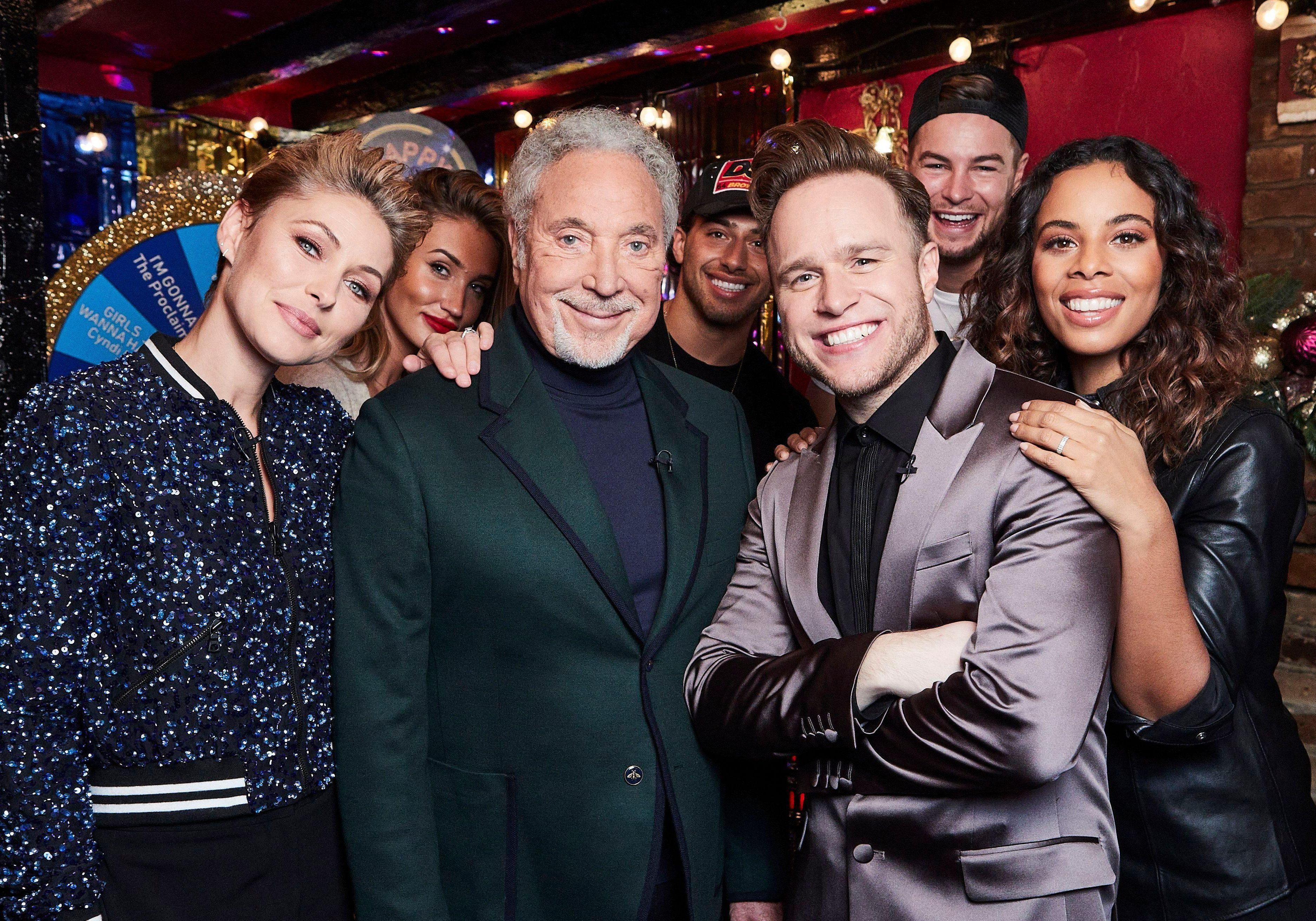 Olly Murs sings karaoke with Bradley Walsh, Sir Tom Jones and Emma Willis as he lands his own Christmas TV special