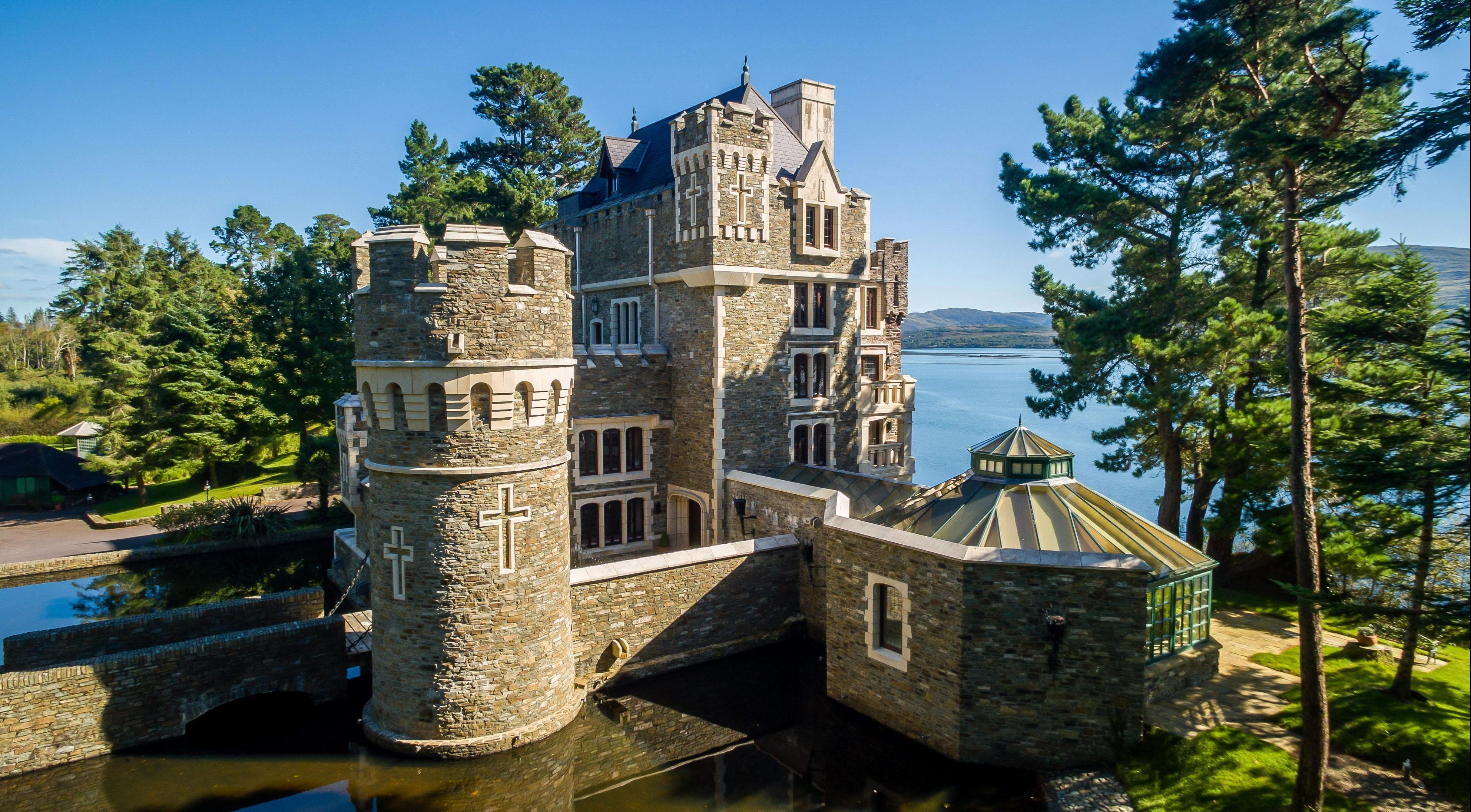 Stunning five-bed fairytale castle with swimming pool CAVE, four-poster beds and its own moat on sale for £4m