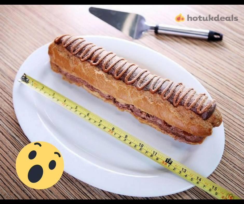 Asda is selling a foot-long GIANT chocolate and caramel eclair – but it costs £5