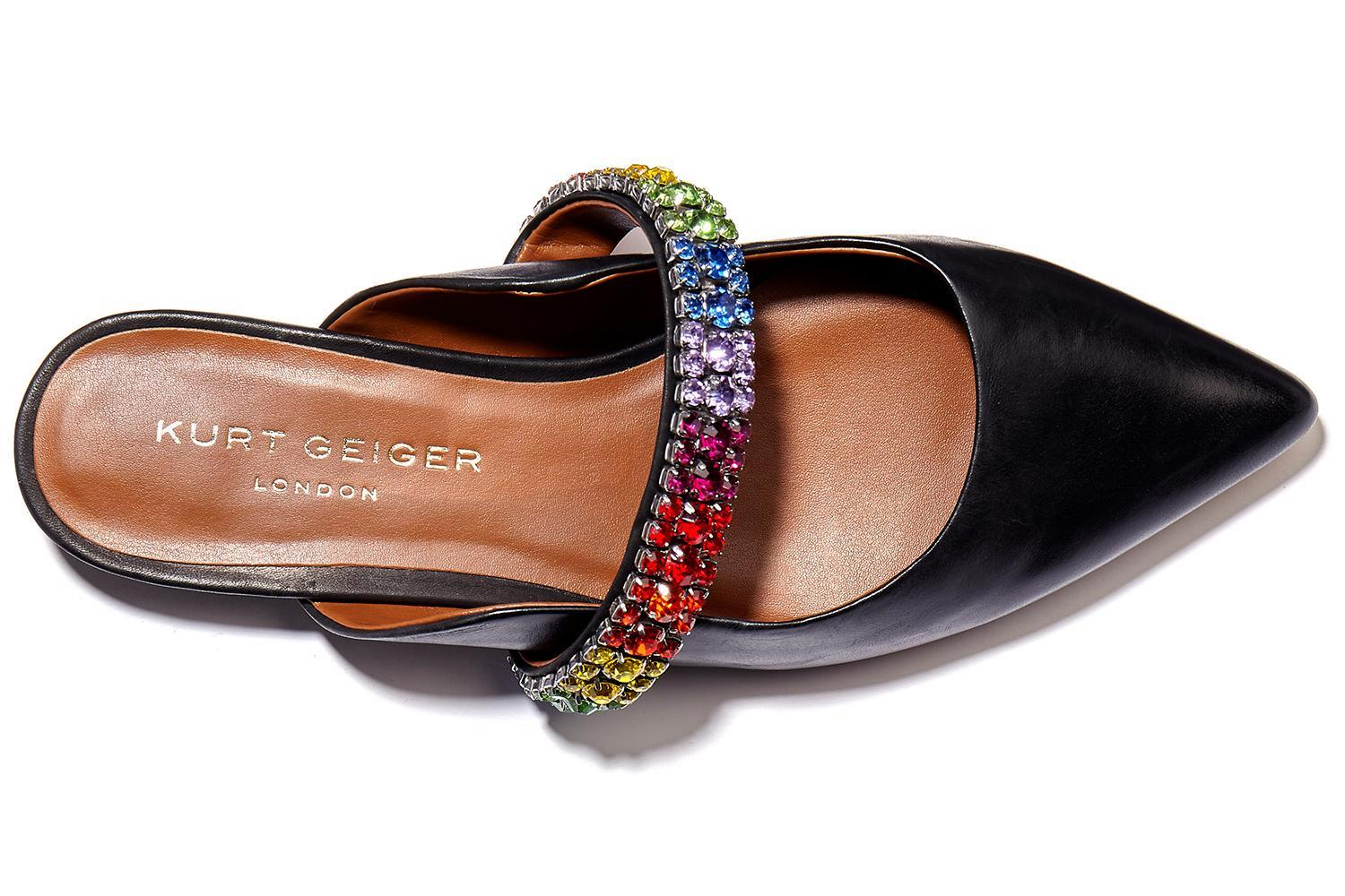 Shine bright this Christmas week with glitzy eyeshadow, rainbow flats and a party-perfect knit