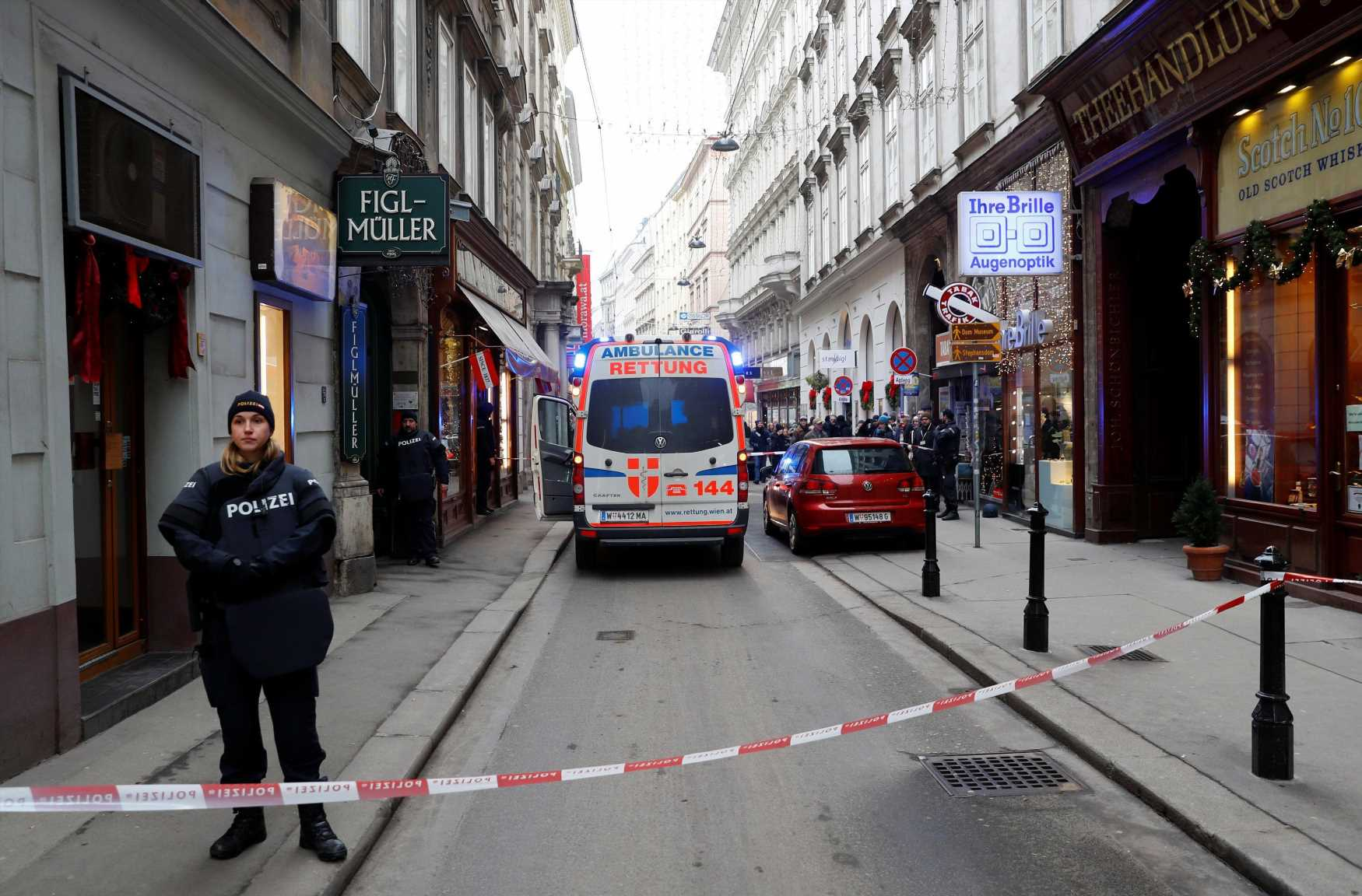 Vienna shooting – 'One killed and another shot the in head' after gunman opens fire in restaurant as cops hunt attacker