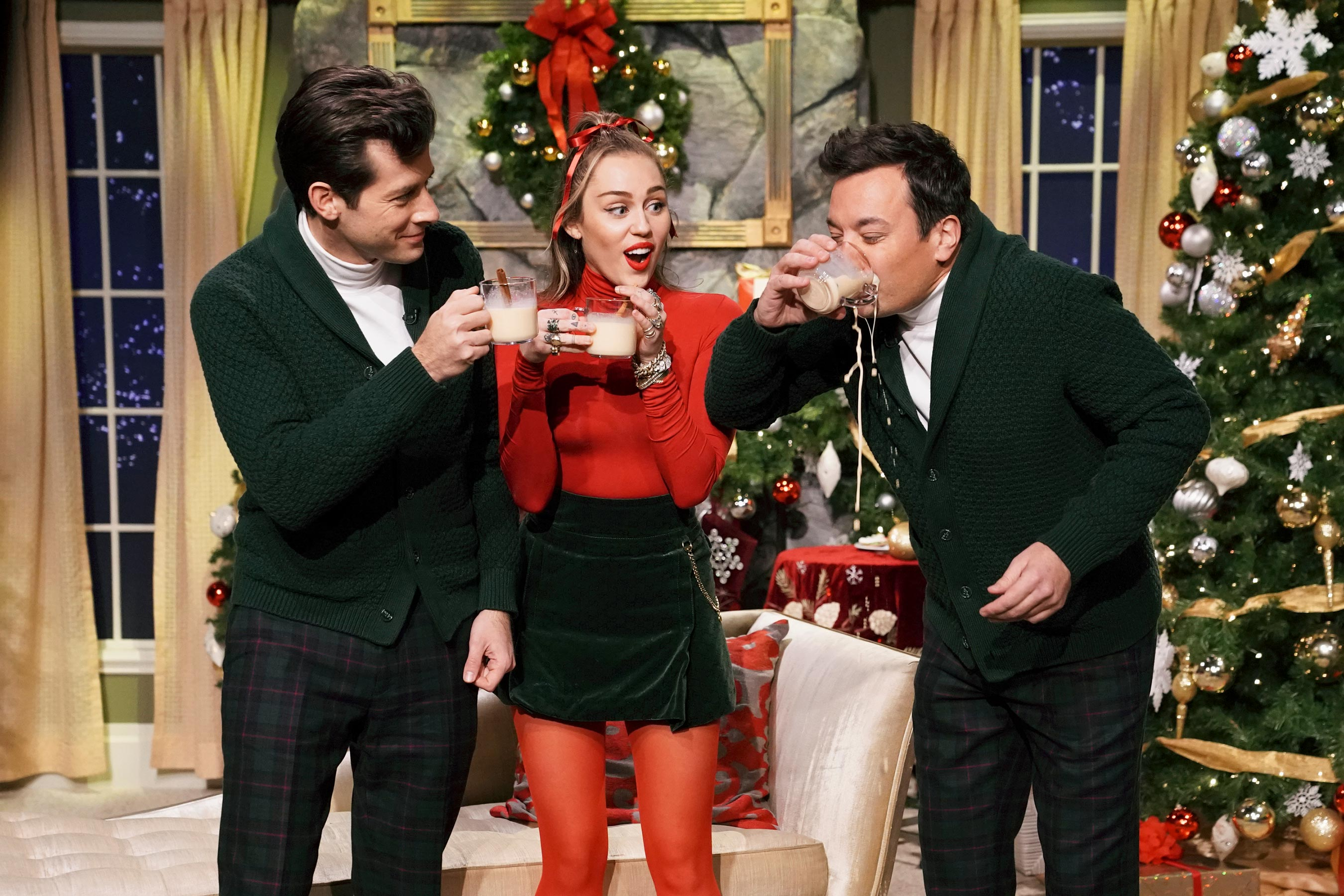 Miley Cyrus, Jimmy Fallon update Santa Baby with a feminist spin for 2018