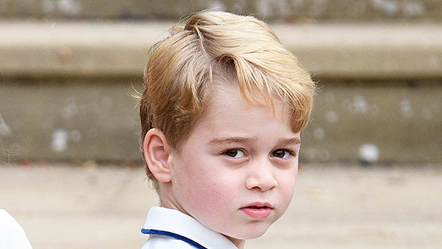 Prince George, 5, Looks Super Serious Headed To Christmas Luncheon — See Moody Pics