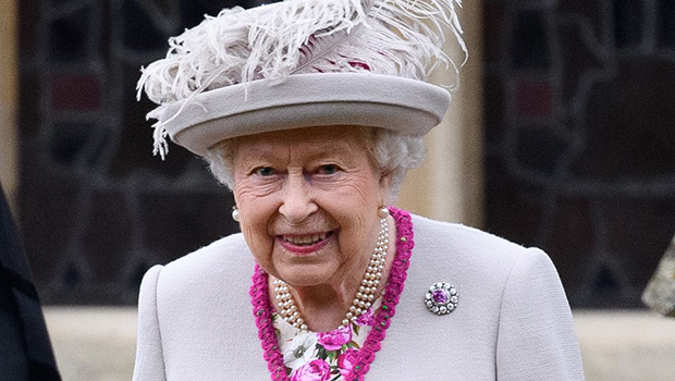 Queen Elizabeth Wears Fuchsia Trim Coat & Feather Hat To Christmas Day Service: See Elegant Look