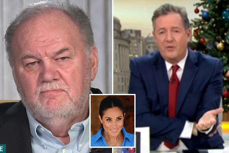 Piers Morgan says he feels SORRY for Meghan Markle's dad after 'sad' TV interview – and urges royal bride to heal family rift