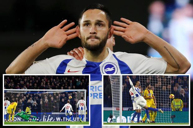 Ten-man Brighton win feisty derby clash after Shane Duffy is sent off for headbutt
