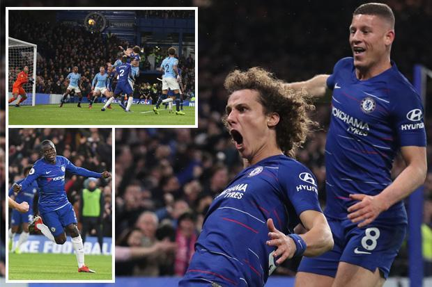 N'Golo Kante and David Luiz inflict first league defeat of season on Pep Guardiola as Liverpool go top