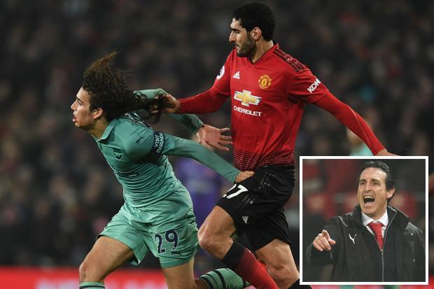 Arsenal boss Unai Emery calls on Matteo Guendouzi to cut his hair after Marouane Fellaini incident