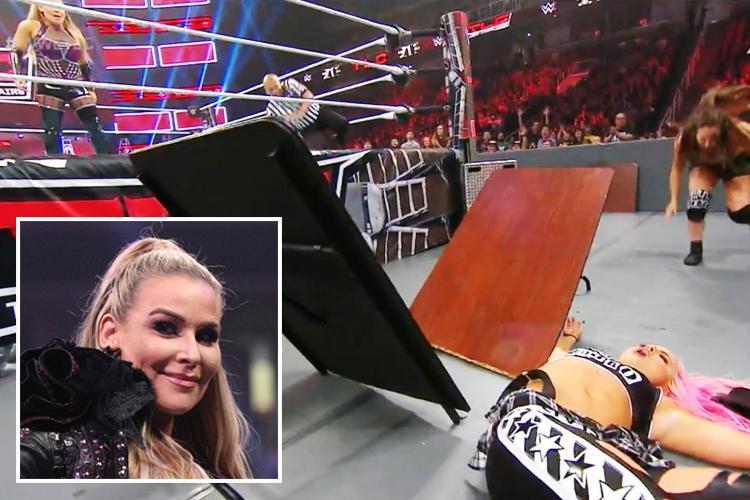 WWE star Liv Morgan smashes head in 'brutal' bump through table at TLC
