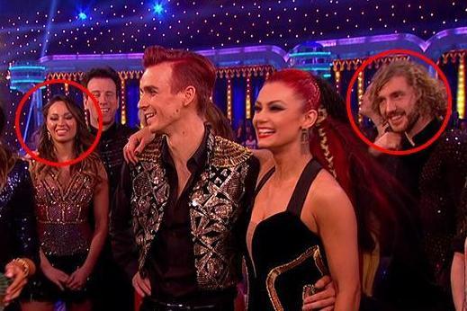 Strictly fans cringe as Seann Walsh and Katya Jones stand apart during final after drunken snog drama
