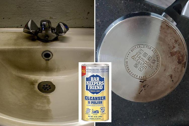 Mums rave about £7 powder that removes stubborn stains and scratches from sinks