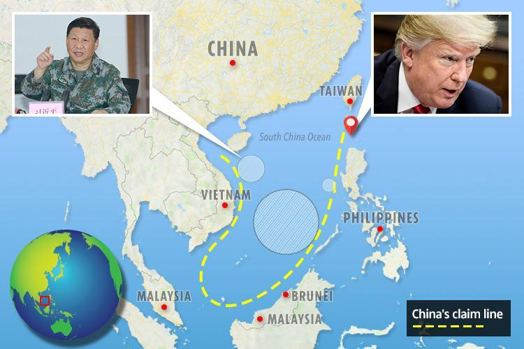 US and China both refuse to back down over South China Sea row that experts fear could trigger World War 3