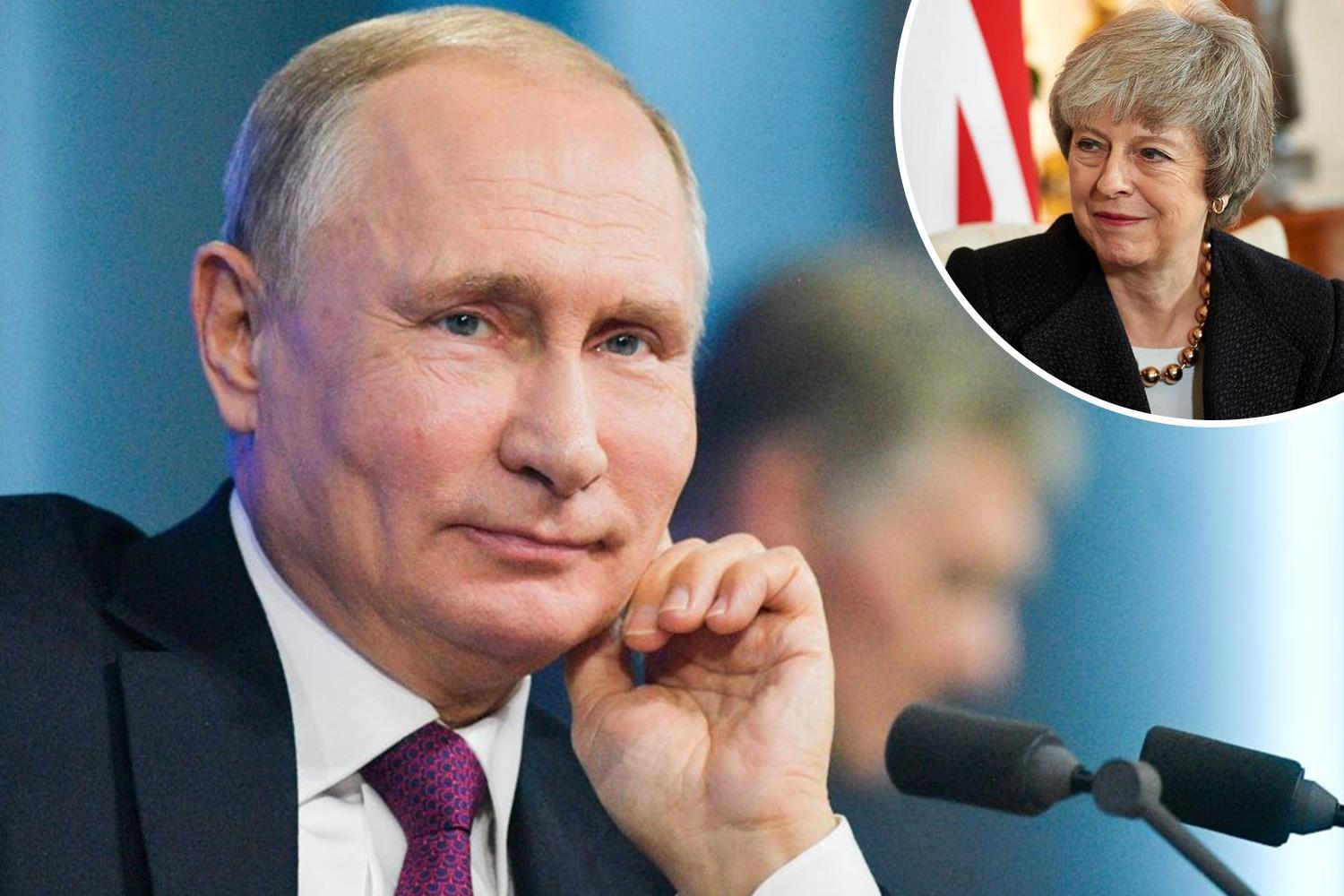 Vladimir Putin backs Theresa May over Brexit slamming second vote as 'disrespectful to voters'