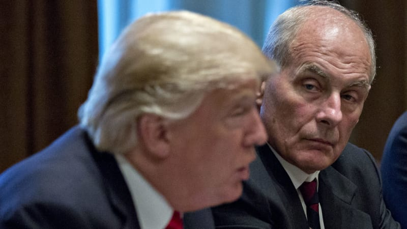 Trump announces his Chief of Staff John Kelly will step down