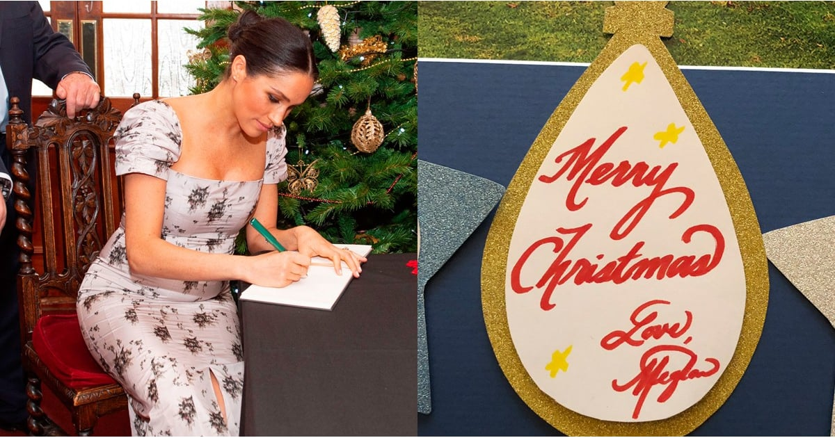 Meghan Markle's Flawless Calligraphy Is Putting My Christmas Card Signature to Shame