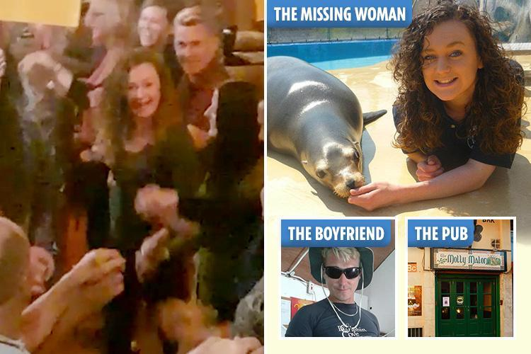 Missing teenager Amy Gerard seen singing and dancing in Irish pub with German boyfriend minutes before she vanished