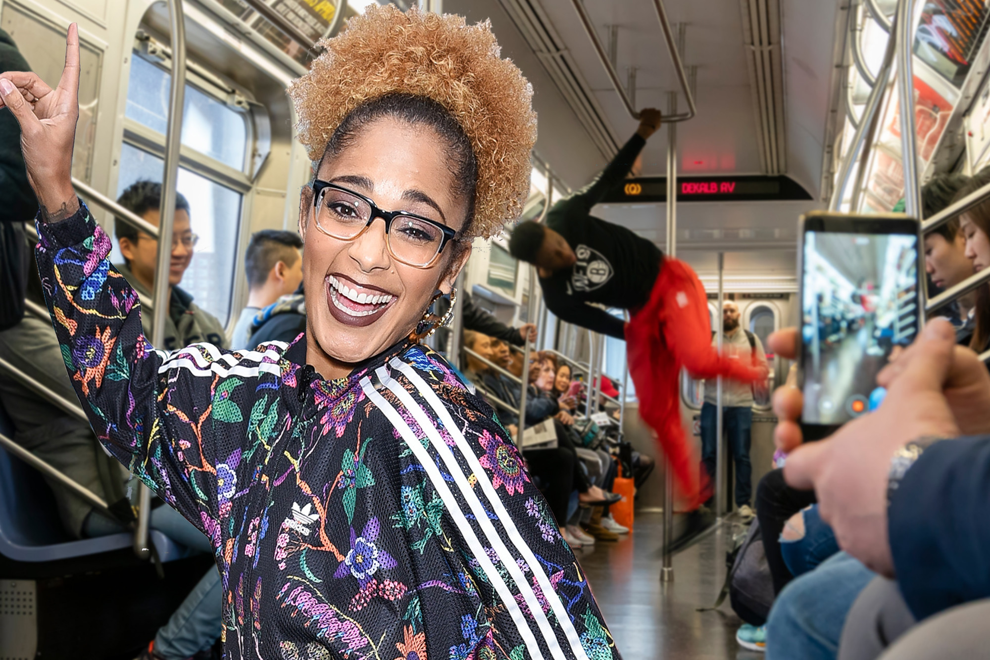 Amanda Seales had the ultimate New York Christmas moment