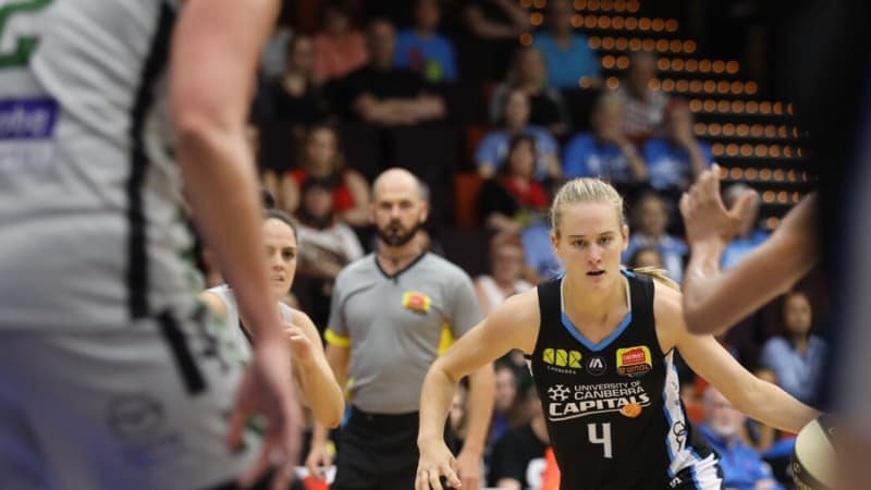 Canberra Capitals edge closer to finals with thumping win at home