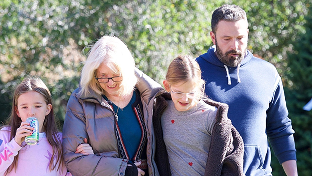 Ben Affleck Takes His Kids & Mom To Get A Christmas Tree For The Holidays  — See Pics