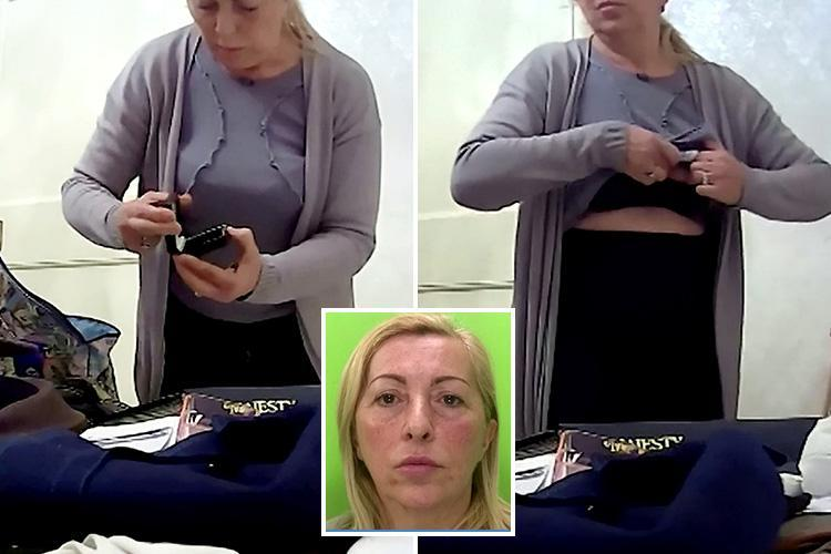 Moment heartless carer steals £130 from dementia sufferer OAP and shoves it up her BRA