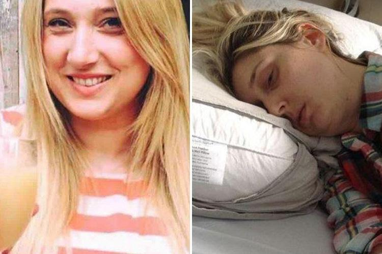 Mum-of-five reveals she has been stuck in bed for TWO years and paralyses herself if she moves her head