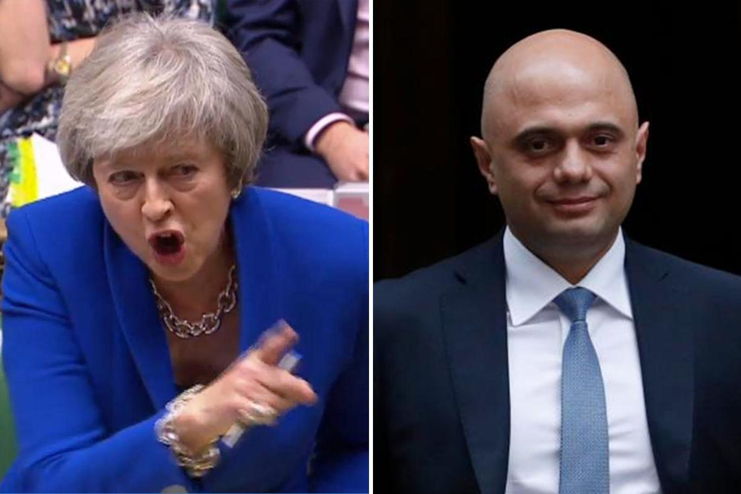 Sajid Javid refused SEVEN times to back Theresa May's drive to cut net migration to 'tens of thousands'