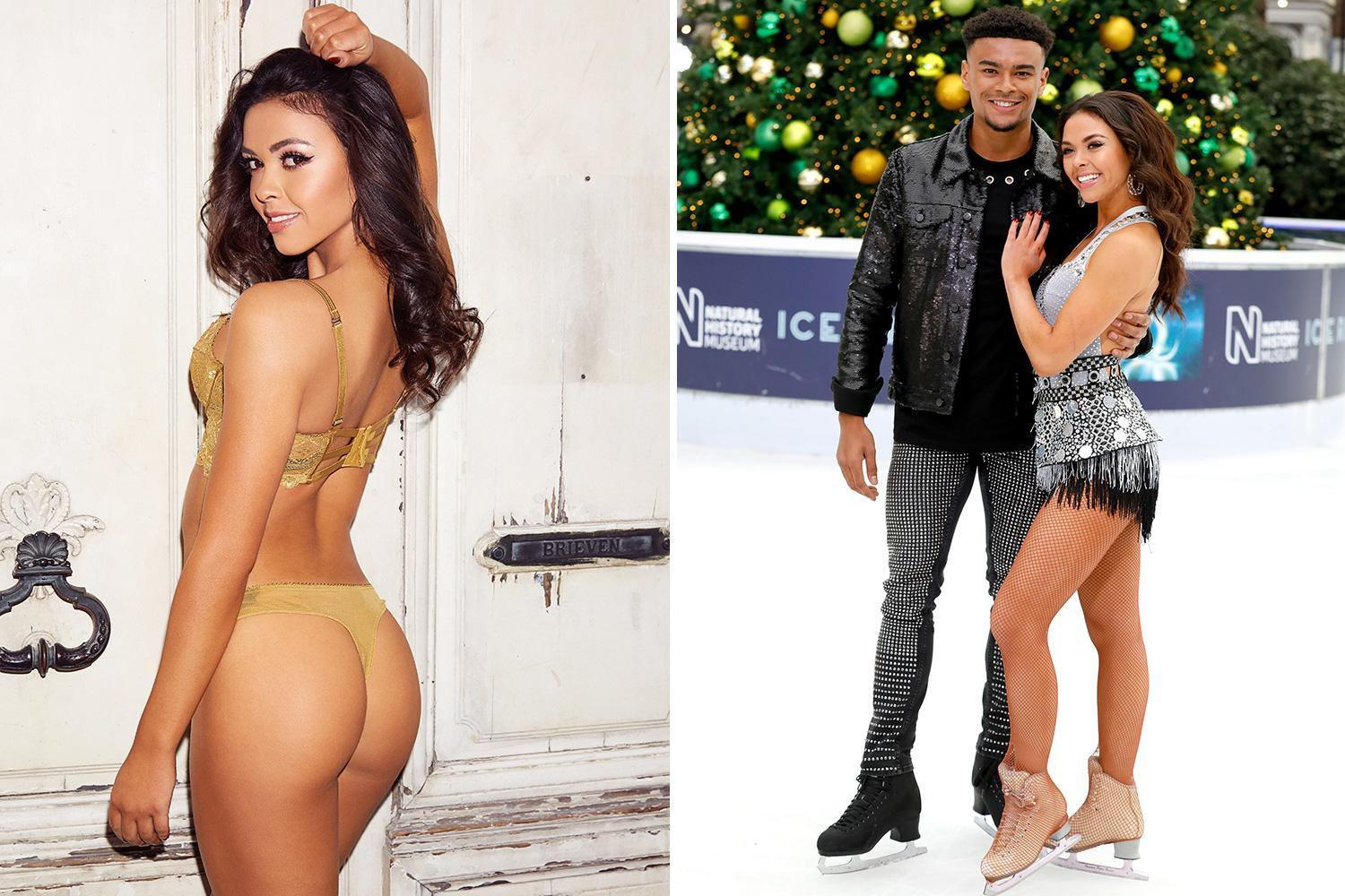 Dancing On Ice's Vanessa Bauer wows in undies as she's paired with Love Island's Wes Nelson