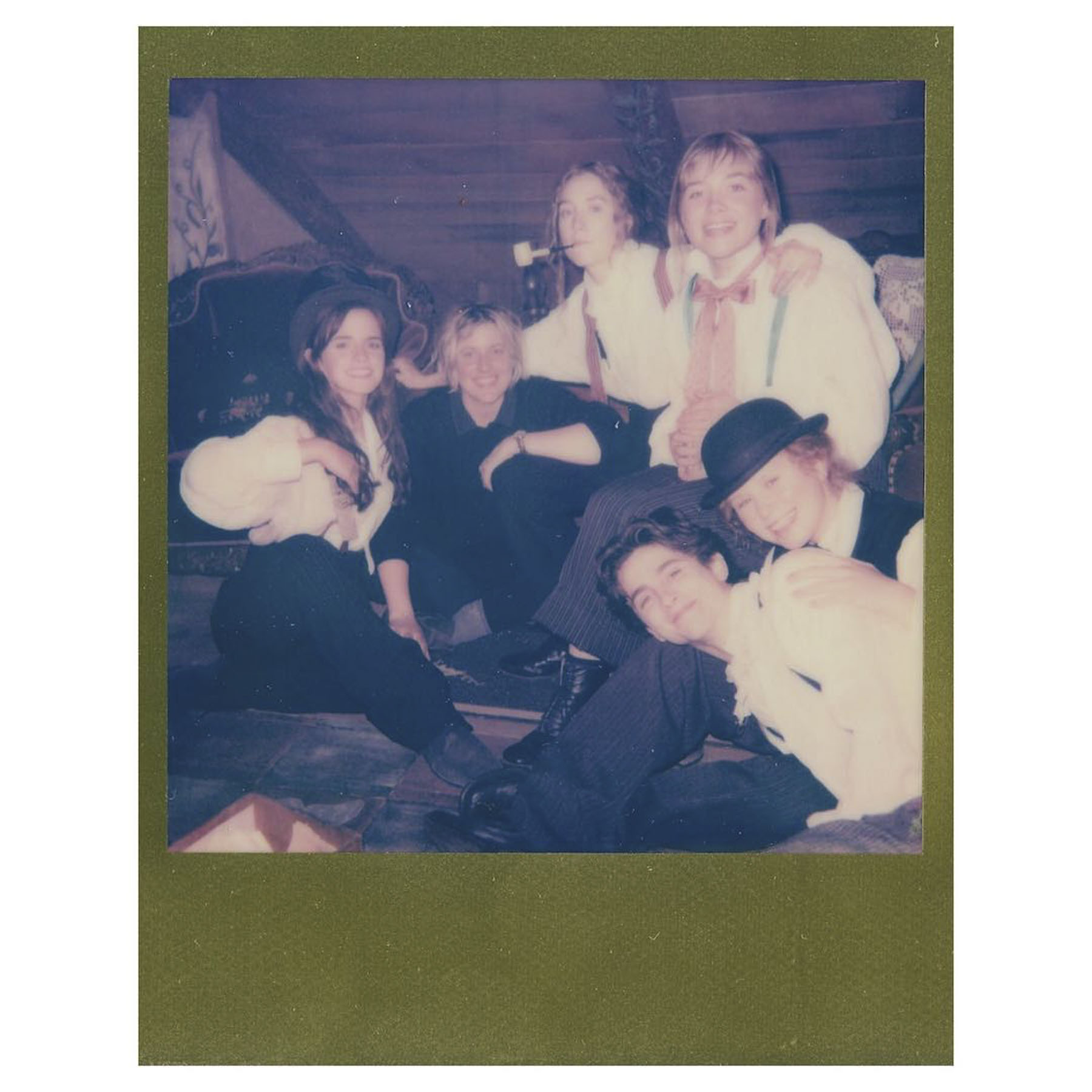 Emma Watson Bonds with Timothée Chalamet, Saoirse Ronan, Greta Gerwig on Set of Little Women