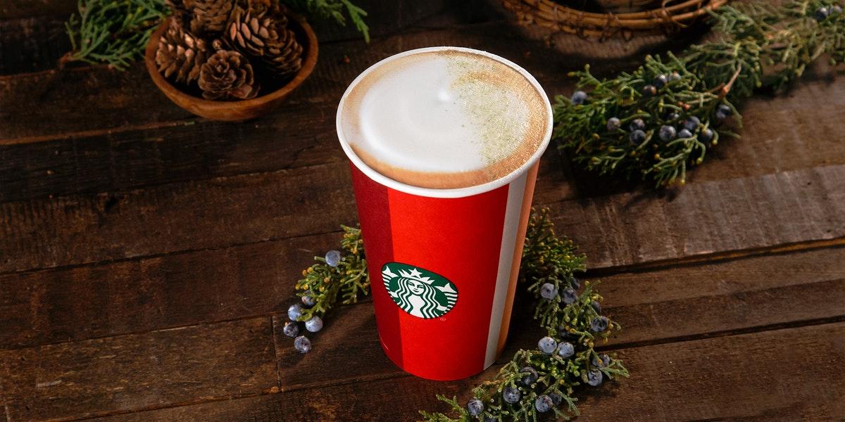 How Much Caffeine Is In Starbucks' Juniper Latte? It's A Festive Pick-Me-Up