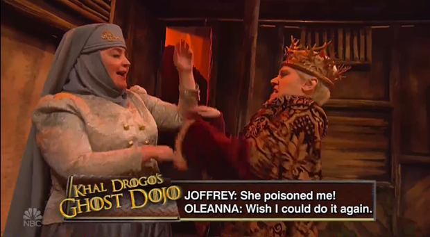 SNL: Game Of Thrones' King Joffrey Gets Into Brawl With Lady Olenna On Khal Drogo's Talk Show