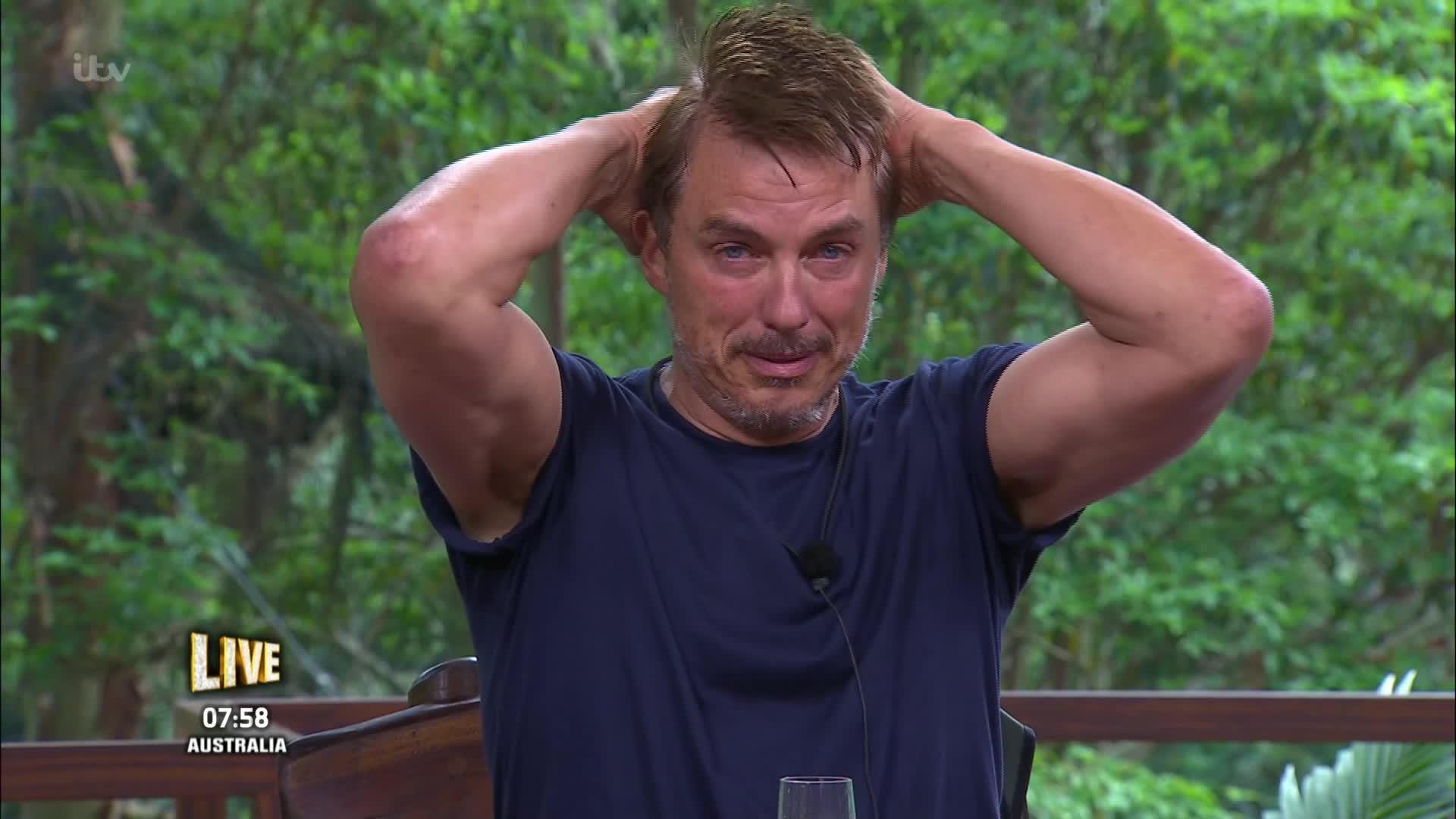 I'm A Celebrity's John Barrowman breaks down in tears as he finishes third place in jungle final
