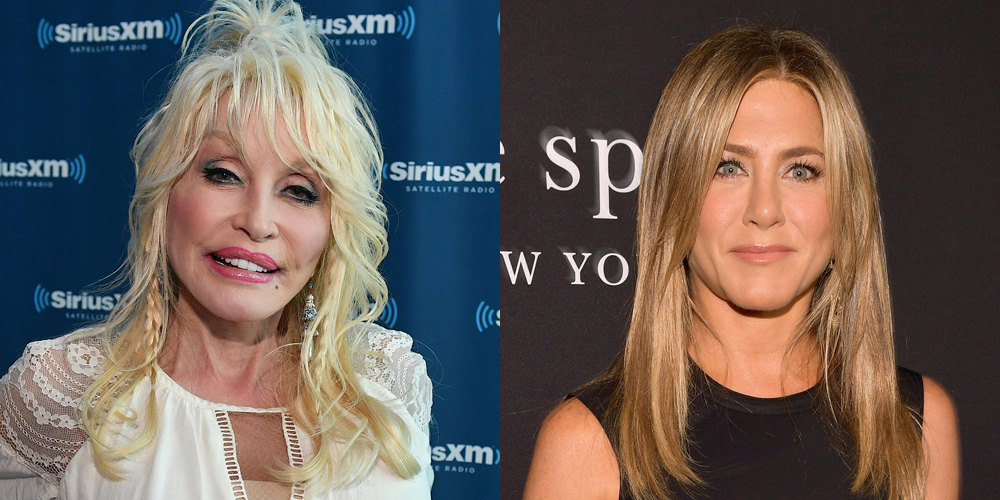Jennifer Aniston Reacts to Dolly Parton's Husband Saying He Wants a Threesome