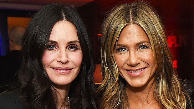 Courteney Cox & Jennifer Aniston Reunite At Movie Premiere Amidst Shocking Feud Rumors — Pics
