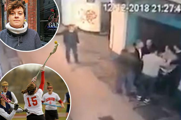 Two Royal Marines arrested after a fight broke out when they tried to invade a private party for the Exeter University's girls' lacrosse team