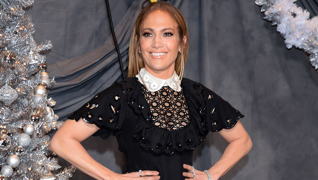Jennifer Lopez Stuns In Short Black Dress With Sexy Thigh-High Boots For 'Second Act' Promo Event