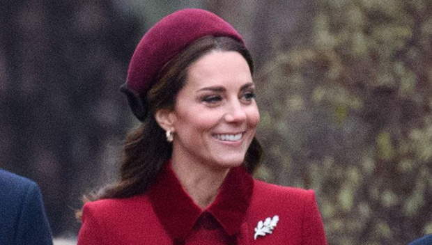 Kate Middleton Is Festive In Red & Bonds With Meghan Markle At Christmas Day Service