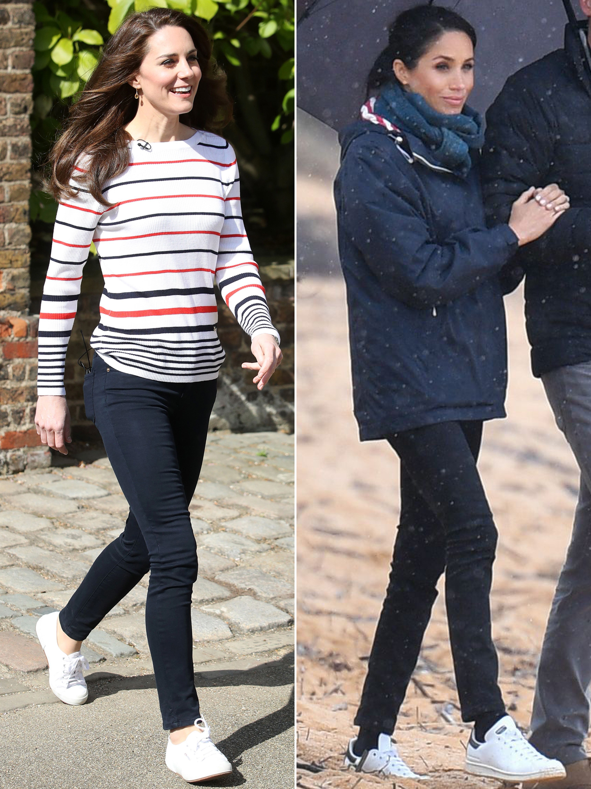 aa612f16b4a Meghan Markle and Kate Middleton s Favorite Flats and Sneakers – and Where  to ...