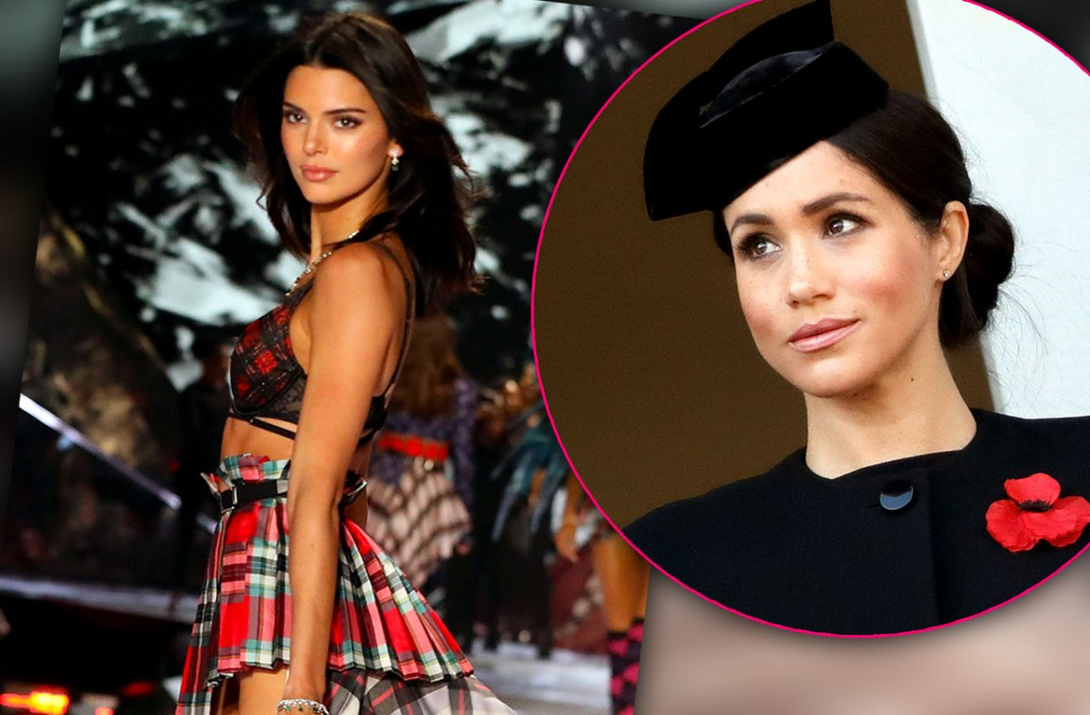 Fashion Week Faceoff! Kendall Fuming As Meghan Markle Steals Thunder At London Show
