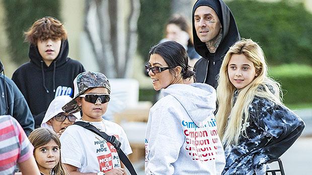 Kourtney Kardashian & Travis Barker Grab Ice Cream With The Kids Amidst Dating Rumors