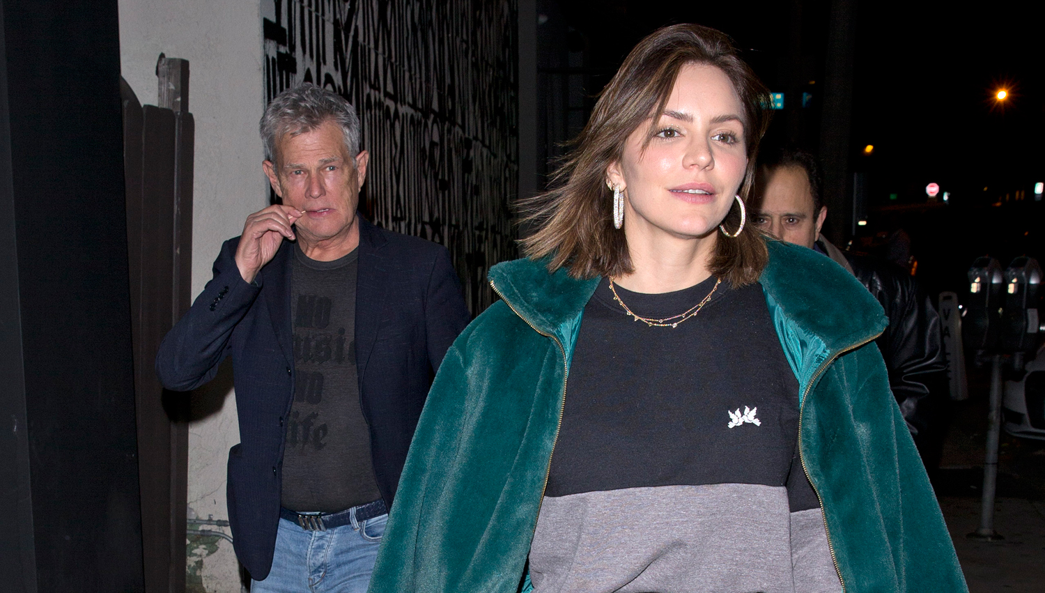 Katharine McPhee & Fiance David Foster Go On a Dinner Date During Holiday Party Season