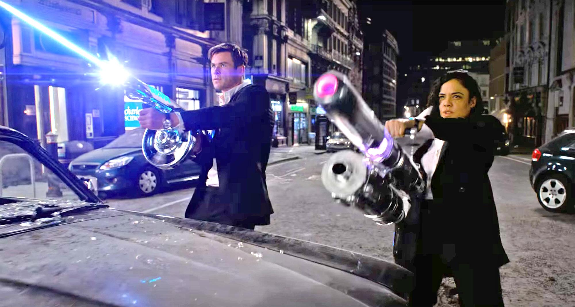 Chris Hemsworth and Tessa Thompson Fight Aliens in First Trailer for Men in Black: International