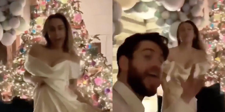 Watch Miley Cyrus Dancing to 'Uptown Funk' in Her Wedding Dress
