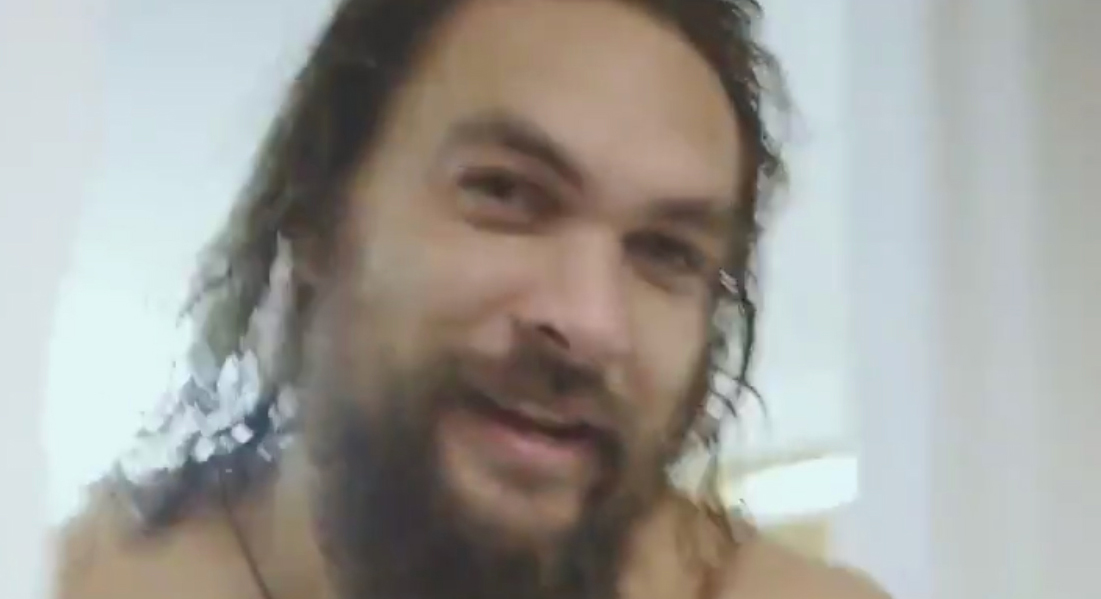 Jason Momoa Goes Shirtless While Promoting 'SNL' From the Shower – Watch Now!