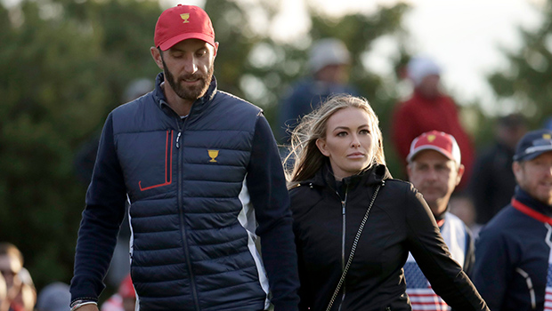 Paulina Gretzky Kisses Dustin Johnson Proving All Is Well As They Celebrate '8 Years' Together