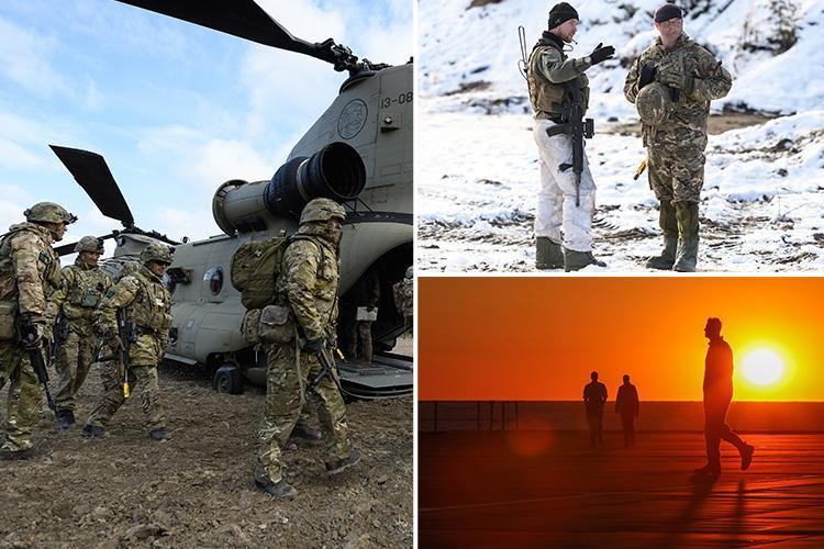 British Army heroes celebrated with incredible photos of our boys on the foreign frontlines