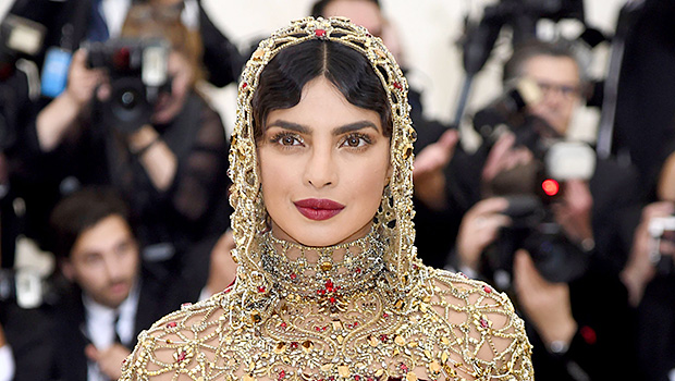 Priyanka Chopra Looks Gorgeous In Red Gown For Indian Wedding Ceremony — See Pics
